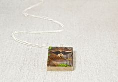 Scrabble® Tile Pendant Forest Raccoon Charm Necklace by WiReDBoutique on Etsy