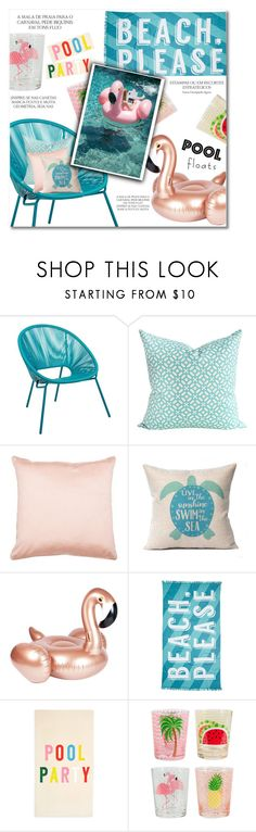 """""""Soak Up the Sun: Pool Party"""" by djinam ❤ liked on Polyvore featuring interior, interiors, interior design, home, home decor, interior decorating, PBteen, Magdalena, Nordstrom Rack and ban.do"""