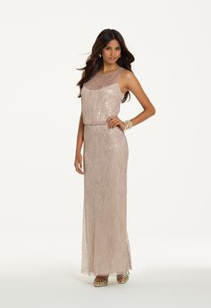 Camille La Vie Sequin and Lace Blouson Prom Dress. Gorgeous twinkle!