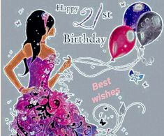Birthday Greeting Cards, Birthday Greetings, 21st Birthday, Minnie Mouse, Disney Characters, Happy, Anniversary Greeting Cards, Birthday Congratulations, Ser Feliz