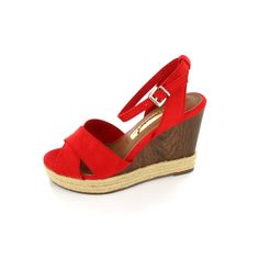 TAMARIS wedges love the red