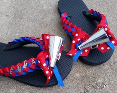 Football Flip flops personalized homecoming shoes team by MumAMia3 Cheer  Coach Gifts b3d53ff6990