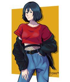Mikasa Ackerman from Shingeki no kyojin. Mikasa Anime, Eren And Mikasa, Attack On Titan Quiz, Character Art, Character Design, Rivamika, Roy Mustang, Aot Characters, Eremika