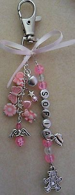 Rings Selber Machen Personalised Baby Changing Bag Pram Charm Name Alphabet Beads, Letter Beads, Beaded Purses, Beaded Jewelry, Pram Charms, Mini Albums, Beaded Angels, Baby Changing Bags, Biscuit