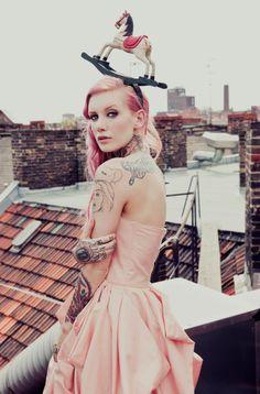 pretty inked pink