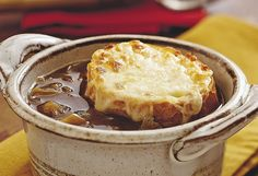 Savory French Onion Beef Stew With Homemade Cheesy Garlic Bread <3