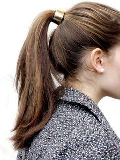 10 Lovely Ponytail Hair Ideas for Long Hair, Easy Doing Within 5 Minute - Schöne Pferdeschwanz Frisu Good Hair Day, Great Hair, Ponytail Hairstyles, Pretty Hairstyles, Hair Ponytail, Ponytail Wrap, Classic Hairstyles, Hair Inspo, Hair Inspiration