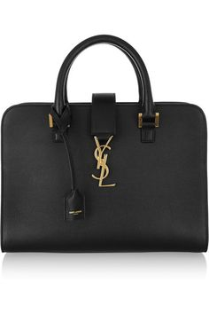 Saint Laurent - Monogramme Cabas Small Leather Tote - Black - one size