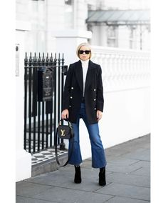 Todays Outfit – Pea Coat And Cut Off Jeans.