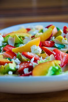 Summer Salad,going to try with grilled chicken rather than packaged.  Fresh is best!!