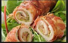Ricette facili e veloci: involtini di pollo, philadelphia e pancetta