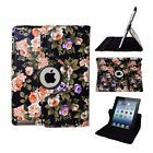 Hot 360 Rotating Folio Stand Leather Smart Case Cover for Apple iPad 2 3 4 Black
