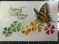 Good use for alcohol inked paper Birthday Card Pictures, Making Greeting Cards, Greeting Cards Handmade, 3d Cards, Cute Cards, Butterfly Cards, Flower Cards, Paint Cards, Birthday Cards For Women