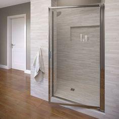 """Basco Deluxe 63.5"""" x 29"""" Pivot Framed Single Swing Shower Door"""