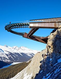 Designed by Sturgess Architecture, Canada's glass-and-steel Glacier Skywalk offers beautiful views and daring heights