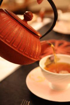 Rose colour tea