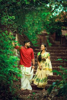 Kerala Wedding Photography, Romantic Couples Photography, Romantic Wedding Photos, Couple Photography Poses, Love Couple Photo, Couple Picture Poses, Couple Photoshoot Poses, Saree Photoshoot, Pre Wedding Poses