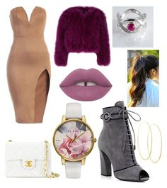 Untitled #132 by toyapowell on Polyvore featuring polyvore, mode, style, Prada, Chanel, Ted Baker, Lana, Lime Crime, fashion and clothing