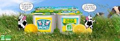 Yaourt au Jus De Citron.   Le jus de citron de Méditerranée, c'est une touche de soleil dans un yaourt Les 2 vaches au bon lait biologique.   http://www.les2vaches.com/nos-bons-produits/les-tres-fruits/au-jus-de-citron