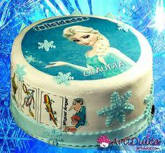 Tarta Frozen con guiño a los naipes