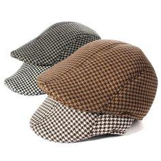 Men's Cotton Blend Winter Warm Gatsby Duckbill Ivy Hat Golf Driving Newsboy Cap - Gchoic.com