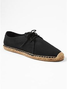 Lace-up espadrilles - An oxford and espadrille combined into one shoe?  Yes, please!