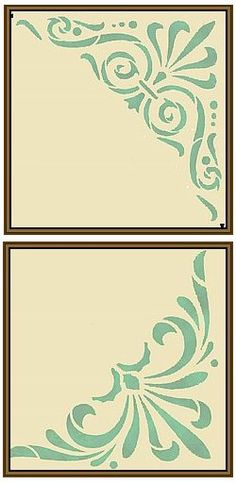 Stencils: Ceiling Corners | Old House Web