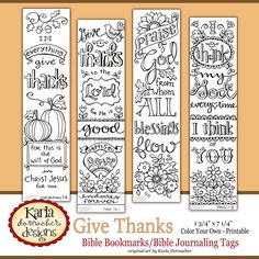GIVE THANKS Color Your Own THANKSGIVING Bible di karladornacher