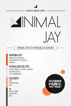 Rubén Figueroa / Minimal Jay Flyer - — Designspiration