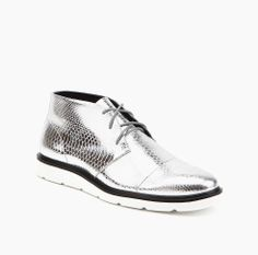FLX Desert Silver + Off White Snake Embossed Leather | United Nude Online Shoe Store | SS14