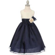 7c040f34c3f NAVY BLUE Flower Girl Dress Birthday Bridesmaid Wedding Party Formal Dance  Prom  PrivateLabel   ...