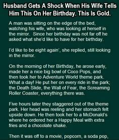 HUSBAND WIFE JOKES & FUNNY STORY - Wife wanted this from her husband on her birthday