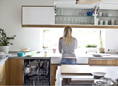 Choose closed cabinets for a streamlined look