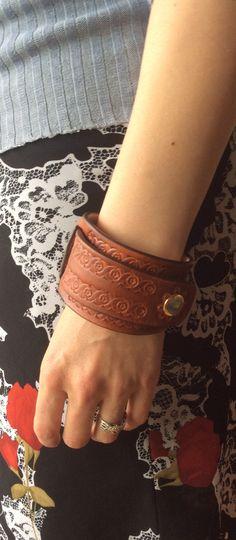 Leather handmade bracelet wrist wrap by LittleLeatherLab.