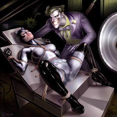 Catwoman and Joker by RaffaeleMarinetti.deviantart.com on @deviantART