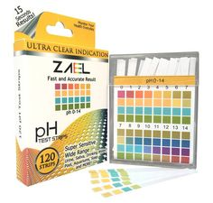 ZAEL pH Test Strips, 120ct Premium Value with Free Alkaline Food Chart (6x8), Professional Lab Grade Test Strips, Wide Range pH Test for Water, Urine, Saliva, Aquarium and Soap.Bulk Discount Available