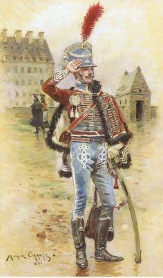 Capitaine 2e Hussards par Maurice Orange