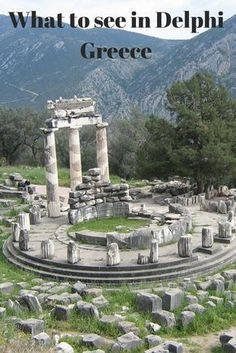 A Day Trip from Athens: Delphi - Tales from Greece, TRAVEL, Visit the archaeological site of Delphi as a day trip from Athens. Greece Vacation, Cruise Vacation, Greece Travel, Greece Trip, Vacation Resorts, Athens Greece, Dream Vacations, Vacation Spots, Europe Travel Tips