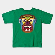 Gorilla ethnic mask kid tee shirt