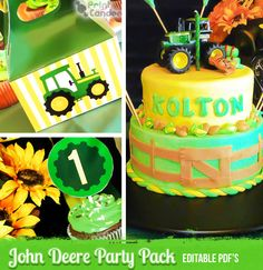 John Deere Deluxe Party Kit  Editable / by printcandee on Etsy, $8.00