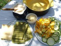 Recetas y Condimentos  Zucchini flowers lasagna.