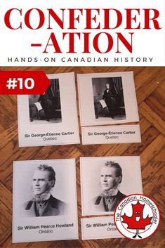 Hands-On Canadian History: Fathers of Confederation - 3 part cards activity Teaching American History, American History Lessons, Canadian History, Teaching History, Canadian Symbols, European History, Black History Poems, Canadian Social Studies, History Classroom Decorations
