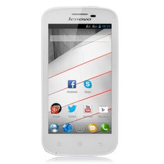 #Lenovo #A760 #White MSM8225Q Quad Core 1.2GHz Android 4.1 Smartphone 1G Ram 4G Rom Dual SIm 4.5 Inch FWVGA IPS Screen