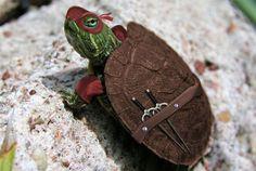 Teenage Mutant Ninja Turtles. Raphael the one in the red mask.