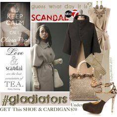 Guess What Day It Is... SCANDAL!!! by enjoyzworld on Polyvore featuring Coffee Shop, FABIANA FILIPPI, Gucci, Kate Spade, women's clothing, women's fashion, women, female, woman and misses