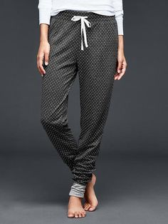 Double-knit lounge joggers
