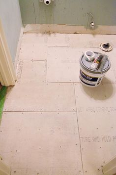 How to install cement board for tile - Bower Power Master Bathroom Shower, Diy Shower, Small Bathroom, Bathroom Ideas, Diy Bathroom Remodel, Shower Remodel, Bathroom Renovations, The Doors, Building A Shower Pan