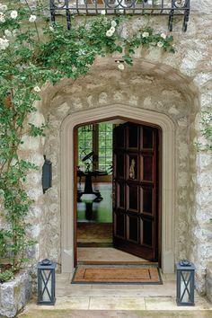 Visitors enter the #