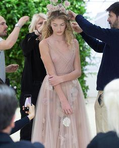 Our model is the picture of focused concentration as the final adjustments are made to her posy of silk flowers right before #MariaGraziaChiuri's breathtaking haute couture Spring-Summer 2017 show. #DiorCouture  via DIOR OFFICIAL INSTAGRAM - Celebrity  Fashion  Haute Couture  Advertising  Culture  Beauty  Editorial Photography  Magazine Covers  Supermodels  Runway Models