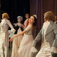 The guests at the party in the Mariinsky Ballet's Nutcracker, Act 1. Photo by Mark Olich